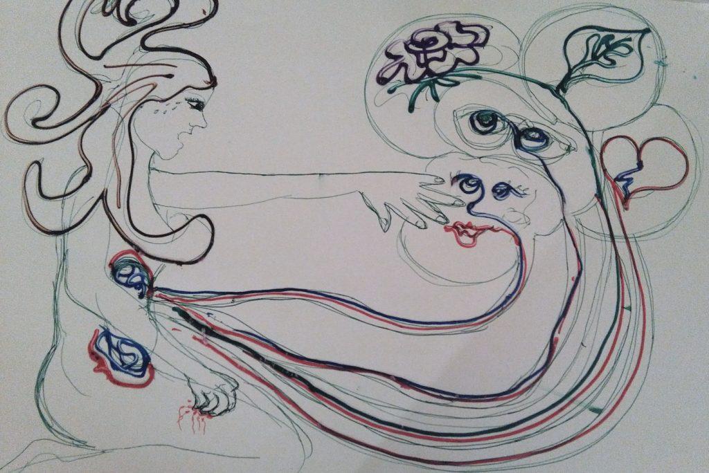 esercizio del corso di arte terpia del Carcere Minorile di Firenze