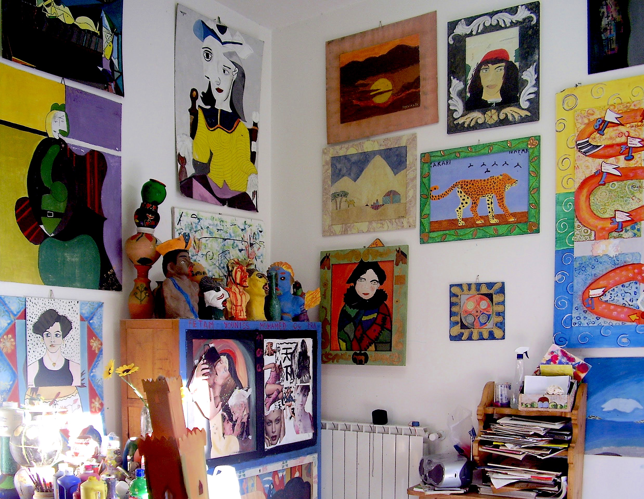 Lo spazio del laboratorio creativo Arte e Natura del Carcere Minorile di Firenze